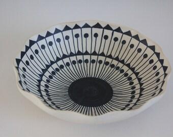 Stunning bowl by Kupittaan Savi Finland
