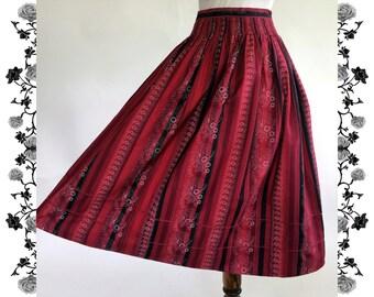 1970's Vintage Dirndl Skirt