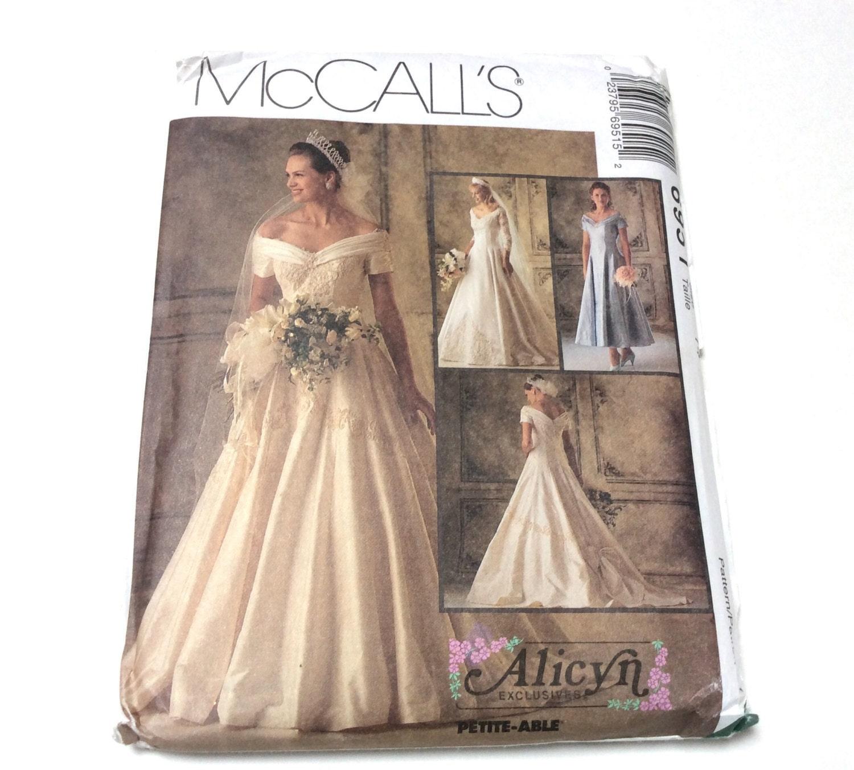 Wedding Gown Pattern McCalls 6951 Alicyn Exclusive Wedding