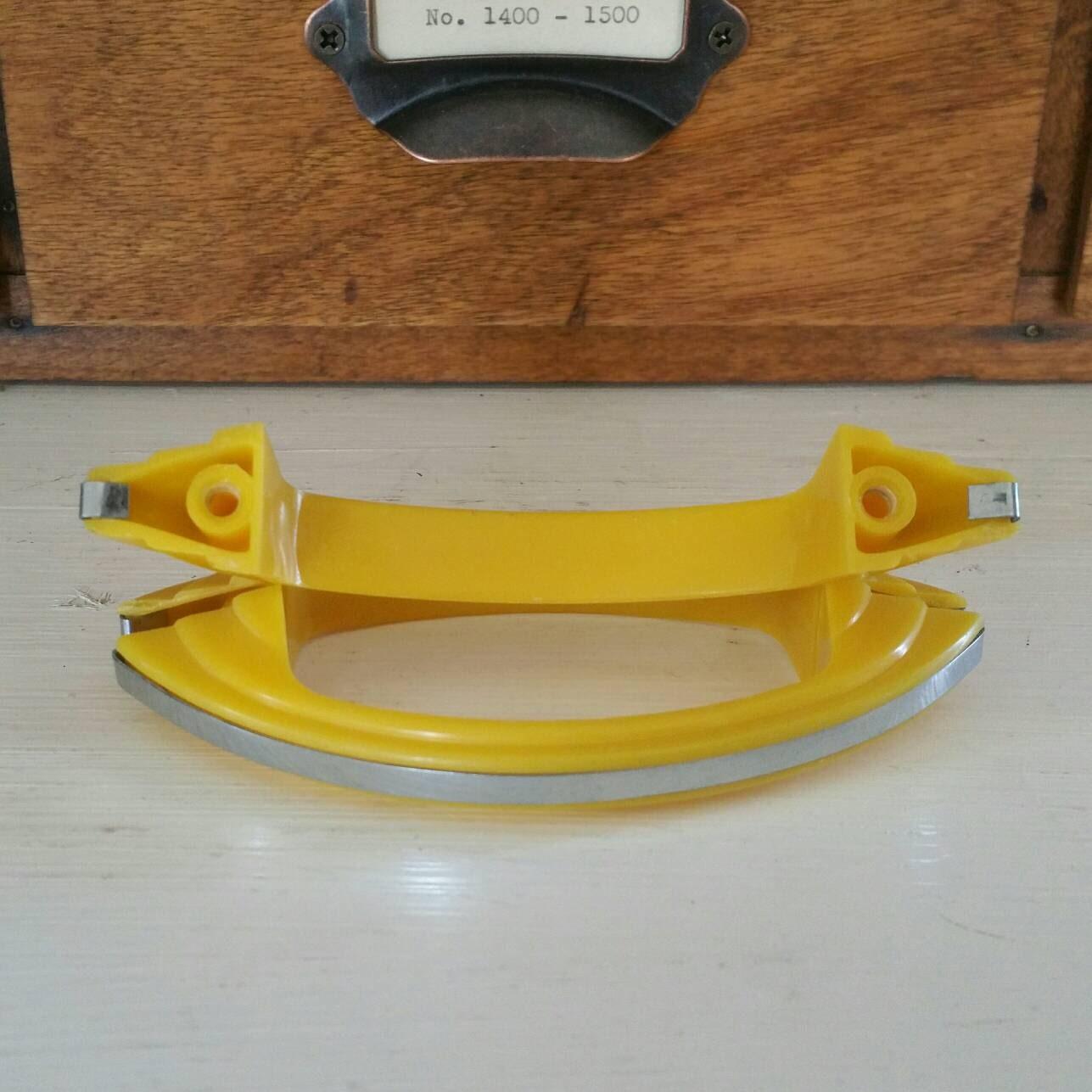 Vintage Art Deco Style Yellow Plastic And Chrome Handles