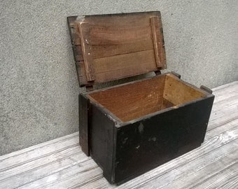 Antique General Electric Insulating Oil Wood Box Storage Shipping Crate