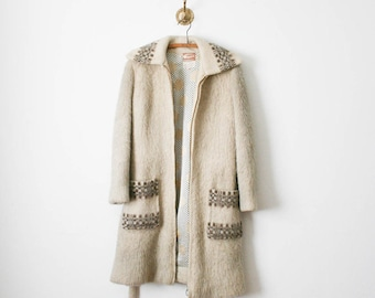 70s icelandic sheep wool coat