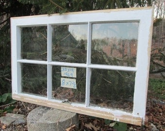 30 x 19 Vintage Antique Window sash old 6 pane  from 1949