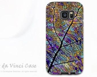 Samsung Galaxy S7 EDGE Case - Beautiful dual layer Samsung Galaxy S 7 EDGE Case with Colorful Aspen Leaf Art - Stained Aspen