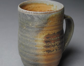Clay Coffee Mug Beer Stein Wood Fired E23