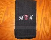 Kitchen or Bath Hand Towel - Sugar Skull Embroidered
