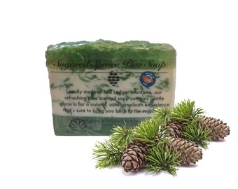 Sugared Spruce Soap, Pine Scent, Pine Scented, Forest, Pine Trees