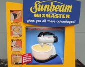 ON SALE Rare, Vintage 1950's, Sunbeam, Mixmaster, Store, Sign, Advertisement, Illuminated, Motion, Point of Sale, Display, Paull Corp