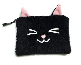 cosmetic bag Kitty kawaii plush cat purse