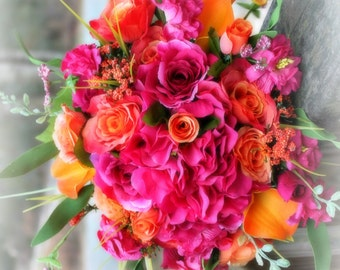 Custom Made 18 pcs  silk  Wedding Flower Package