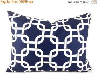 20% Off CLEARANCE SALE Navy Lumbar Pillow Covers Decorative Pillows Navy Pillow Premier Prints Gotcha Navy Blue