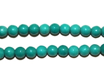 8 mm Sea Green Turquoise Magnesite Round Beads