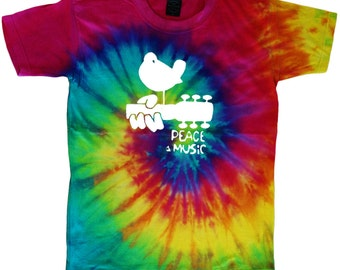 Tie dye t-shirt woodstock