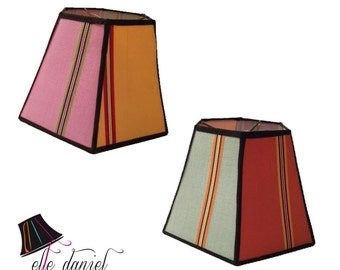 Colorful Lamp Shade: Hexagon Lamp Shades, Colorful Lamp Shades, Unique Lamp Shades, Designer Lamp Shades