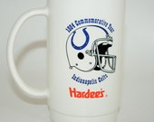 1984 Indianapolis Colts Mug Commemorative Year Football Schedule From Hardees