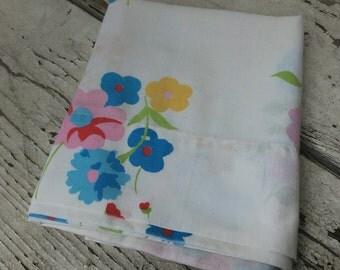 Vintage Pillowcase. Standard Pillowcase. Floral Vintage Pillowcase.
