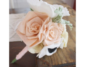 Custom Wedding Bouquet (DO NOT ORDER) || Build Your Own Felt Flower Bouquet || Felt Flowers || Flower Stems || Wedding Flowers