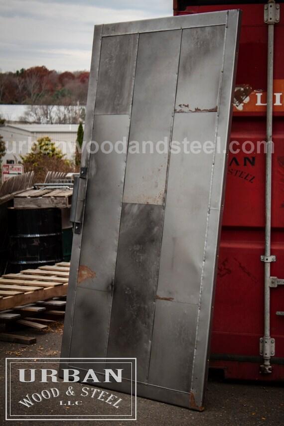 Industrial steel fire door from urbanwoodandsteel on etsy for Fire door design uk