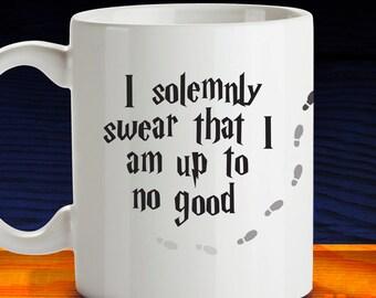 I Solemnly Swear Harry Potter Mug, Mischeif Managed, Funny Coffee Mug, Coffee Lover Gift, Harry Potter Gift, Maraders Map Coffee Mug 1174