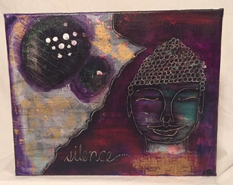 Mixed Media Artwork - Silence