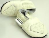 soft sole baby shoes infant handmade diamond white 12 18 m ebooba DM-5-W-T-3