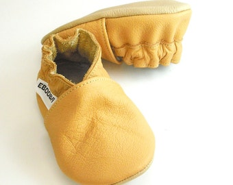 soft sole baby shoes infant kids children  yellow 18-24m ebooba OT-15-Y-M-4
