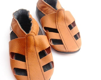 soft sole baby shoes handmade infant gift boy sandals brown 0 6 bebe garcon fille chaussons cuir souple pour chaussures ebooba SN-64-BR-M-1