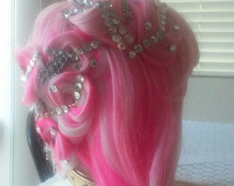 Pink Pincurl Fantasy Wig
