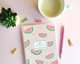 Watermelon Mini Notebook-Watermelon Notebook -Watermelon Journal - Watermelon Stationery