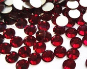 1440pcs Wholesale Dark Red (Dark Siam) Crystal Flat back Rhinestones size 2mm 3mm 4mm 5mm 6mm Non hotfix