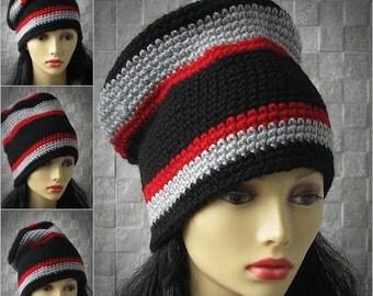 Rasta Hat Cap Slouchy Reggae Rockers Selassie Marley Jamaica 100% Acrylic L/XL