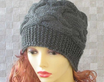 Woman Hat - Hand Knitted Slouchy Beanie women chemo hats Perfect Spring Accessory for her