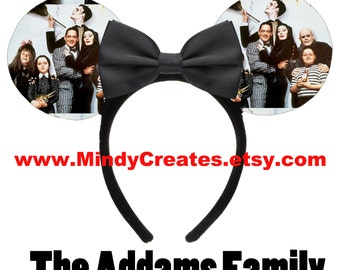 The Addams Family Minnie Mouse Ears