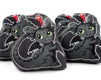 Cute Toothless Pillow Plushie, Dragon Plush Toy, Stuffed Animal