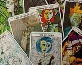 Greek Mythology Tarot Deck, tarot cards, cubism-inspired, Mythological Abstractions