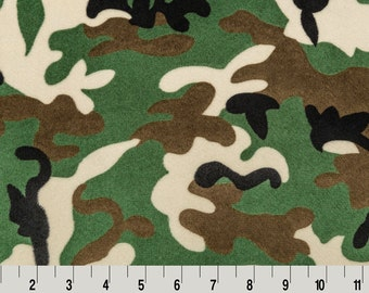 BY THE YARD- Shannon Fabrics Camouflage Cuddle Minky Fabric