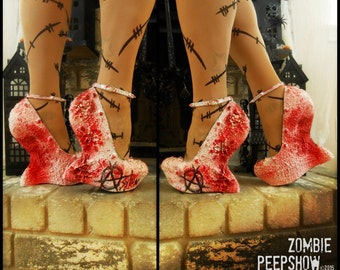 """Bloody """"Anarchy"""" Heel-less Curved Wedges Heels"""