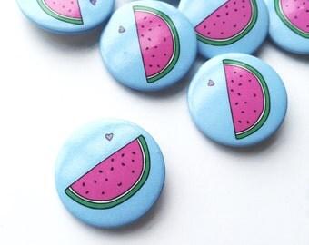 Super Cute Watermelon Pin Button Badge Wedding Favour Patches and Pins Kawaii Pin Kawaii Badge Button Pin Melon Gift