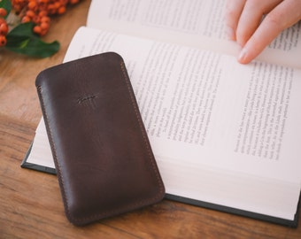 """OnePlus 3 Sleeve, OnePlus 3 Pouch, OnePlus 3 Case, leather, felt, """"Dandy"""""""