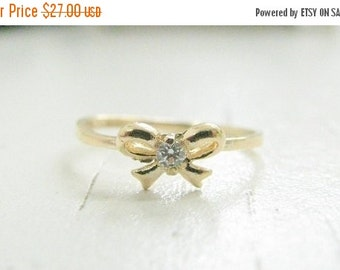 VALENTINES DAY - Ribbon ring, Bow damond ring, Bow ring, Forget me know ring, Bow ring gold, Gold ring, Thin bow ring, Best friends ring, Si