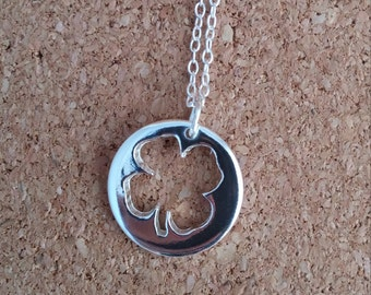 Four Leaf Clover Necklace, Clover jewelry, Lucky Necklace, Lucky clover, Clover charm, Irish necklace,