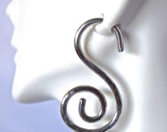 10 Gauge Sterling Silver Swirly Earrings