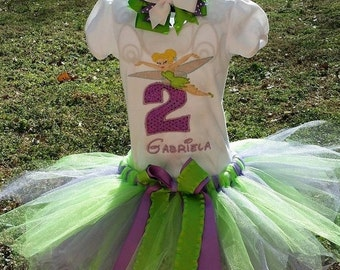 ON SALE Tinkerbell Birthday Tutu Set - Birthday #1-8 available!