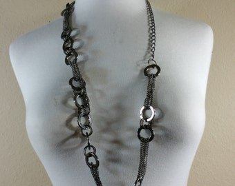 Gun metal necklace or belt trim