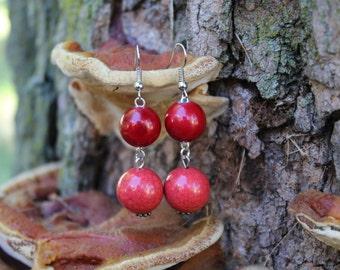 Cranberry Drop Earrings