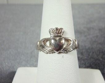Sterling Silver Solvar Claddagh Ring Sz.6 3/4 R154