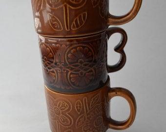 Vintage retro made in japan ceramic mugs