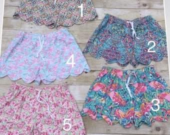 Kids lilly pilitzer inspired shorts