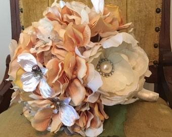 Wedding Bouquet Handmade gold