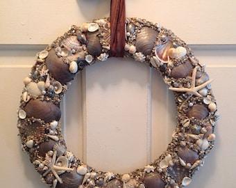 Seashell Wreath, Shell Wreath, Beach House Decor, Housewarming, Gifts for her